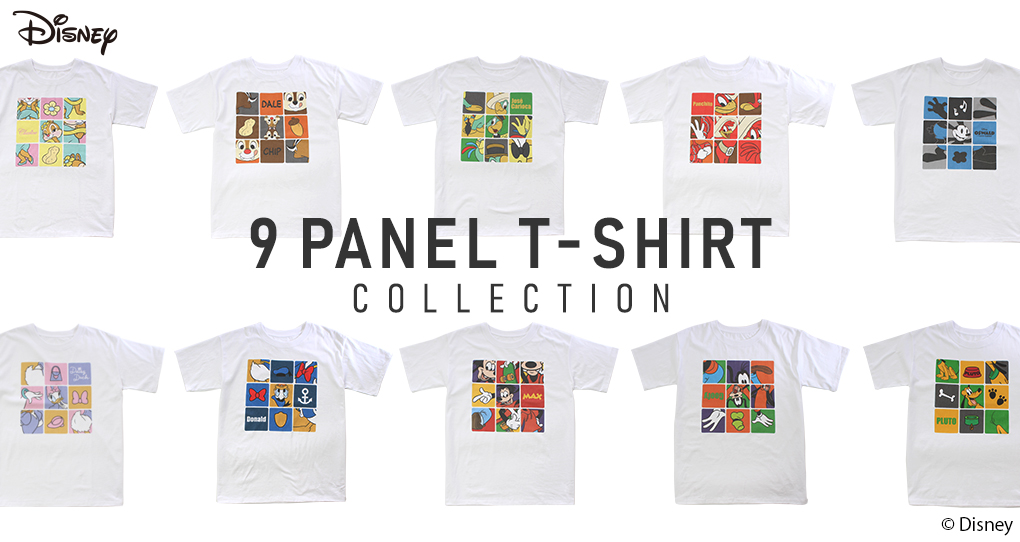 【Disney】9 PANEL T-SHIRT COLLECTION