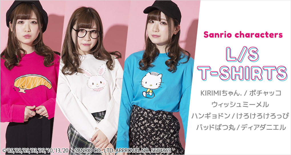 Sanrio character's L/S T-SHIRTS