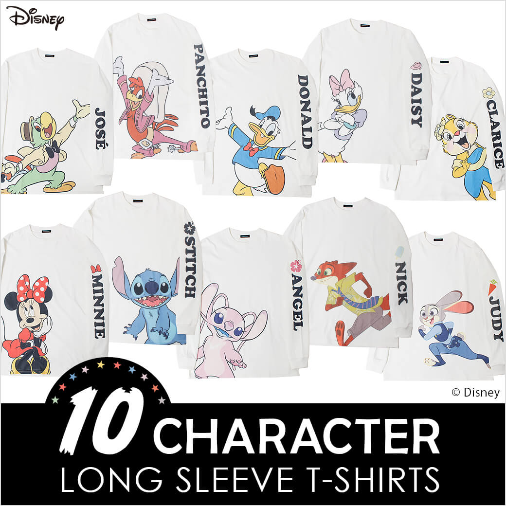 Disney 10 CHARACTER LONG SLEEVE T-SHIRTS