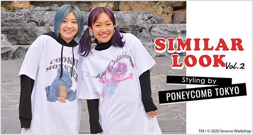 SIMILAR LOOK SESAMESTREET Styling by PONEYCOMB TOKYO