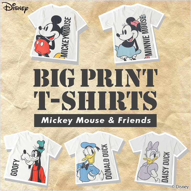 Disney BIG PRINT T-SHIRTS COLLECTION