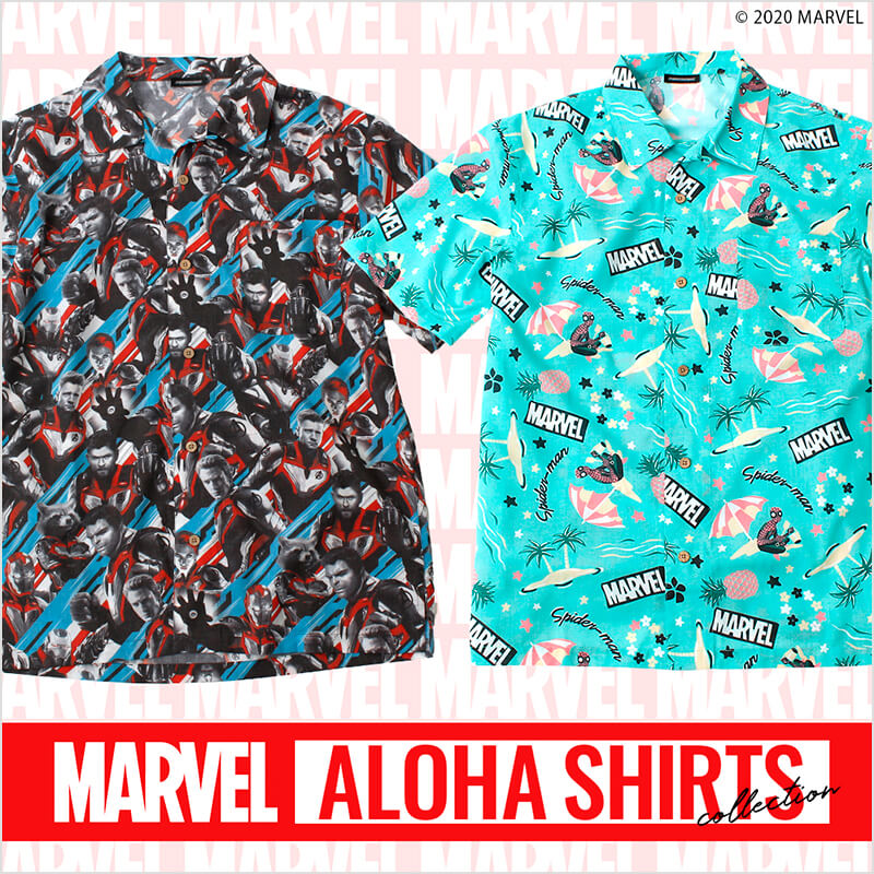 MARVEL ALOHA SHIRTS COLLECTION