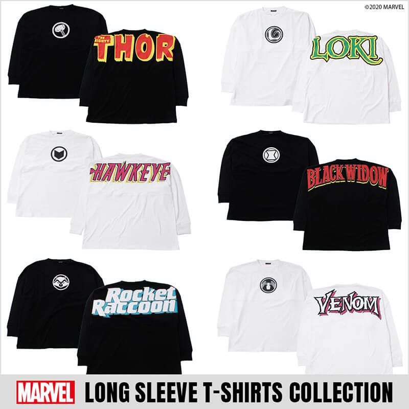 MARVEL LONG SLEEVE T-SHIRTS COLLECTION