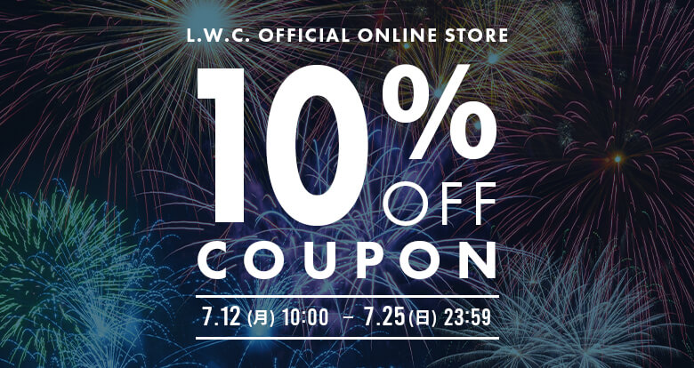 【ONLINE STORE限定】10%OFFクーポン!!